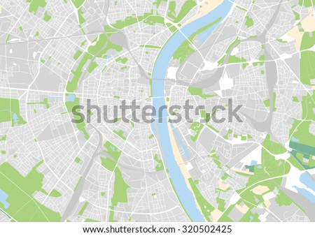 vector map of the city of Cologne - stock vector