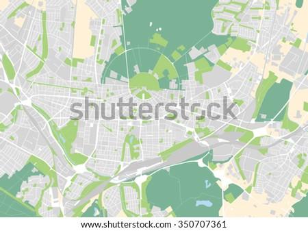 Vector Map City Karlsruhe Germany Stock Vector 350707361 Shutterstock