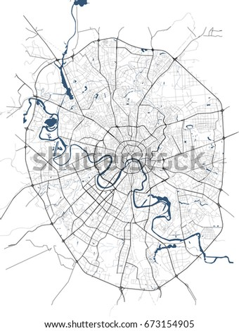 Vector Map City Moscow Russia Stock Vector Shutterstock - Moscow russia on world map