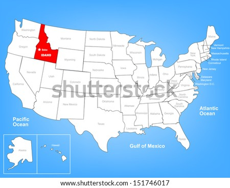 Boise Idaho Us Map MAP - Idaho us map