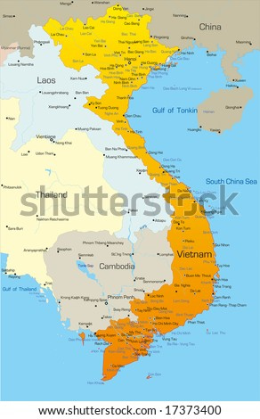 Vector map of Vietnam country