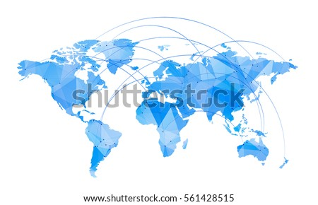 Vector map world trendy triangles design vectores en stock 556621795 vector map of world with trendy triangles design gumiabroncs Image collections