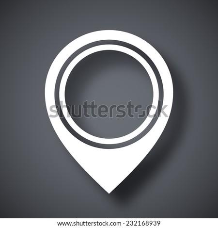 Vector map pointer icon - stock vector
