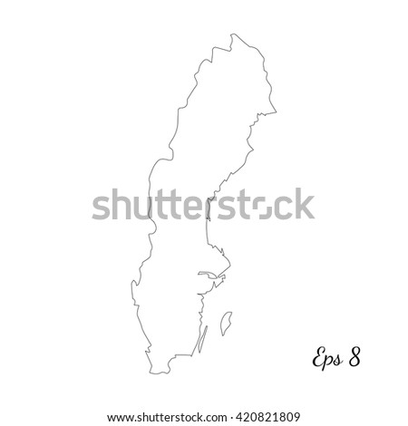 Sweden Map Stock Images RoyaltyFree Images Vectors Shutterstock - Sweden map blank