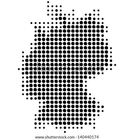 Vector Map Dots Germany Stock Vector (Royalty Free) 140440174 ...