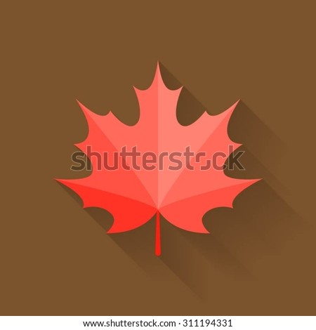 Silhouette Maple Leaf Canadian Symbol Vector Stock Vector ...