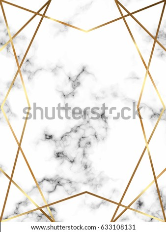 Vector marble background with gold lines. Geometric frame. Template for holiday designs, card, invitation, party, birthday, wedding, baby shower, save the date, anniversary. Place your text.