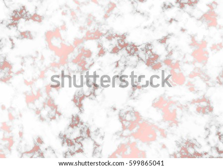 Vector marble with rode gold background. Marble with rose gold texture. Trendy template for design, party, birthday, wedding, invitation, web, banner, card.