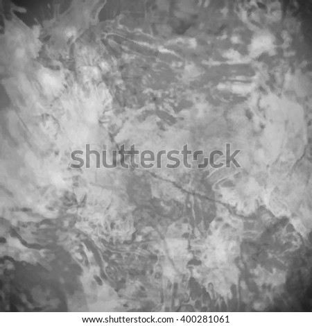vector marbled textured background, glossy glass pattern of wavy texture shapes, black and white monochrome color - stock vector