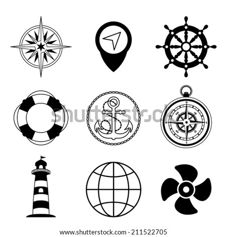 Vector marine icon set