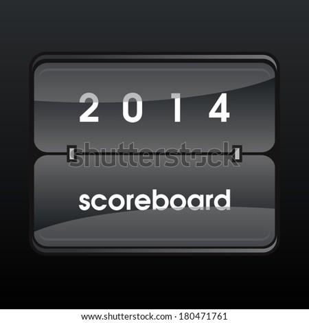 Vector mechanical scoreboard - stock vector