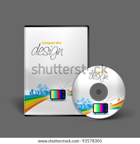 vector media cd cover design template, vector illustration