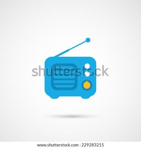 Vector Media Icon - Radio - stock vector