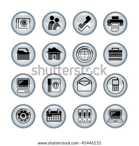 Vector media icons - stock vector