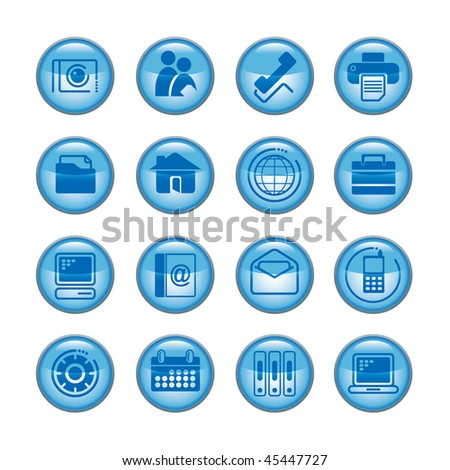 Vector media icons - stock vector
