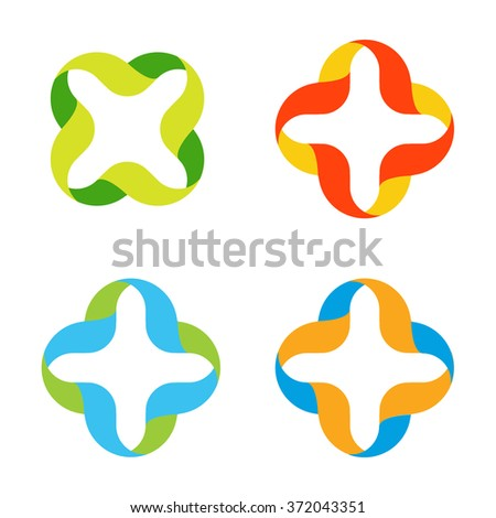 vector medical cross colorful medic logos stock photo photo vector rh shutterstock com vector medical term vector medical transport