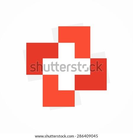 Vector medical cross logo or icon - stock vector