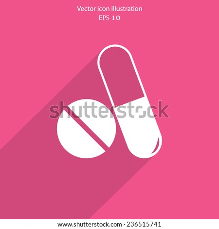 Vector medical drugs web icon. Eps10. - stock vector