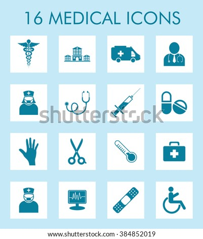 Vector Medical & Healthcare Icons Set for Mobile & Web