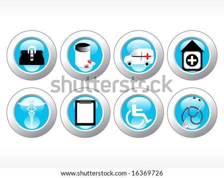 vector medical icon series web 2.0 style - stock vector
