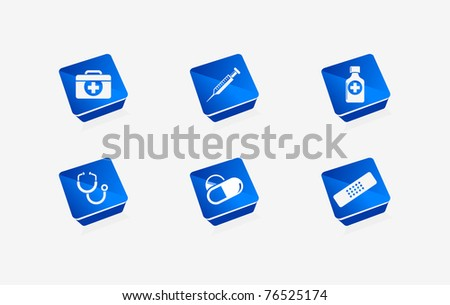 Vector medical icon set for web & applications - stock vector