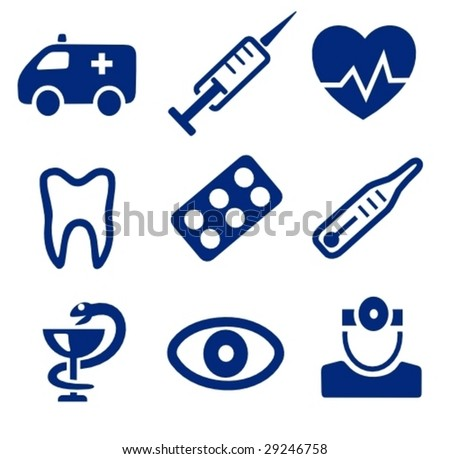 Vector: Medical icons - stock vector
