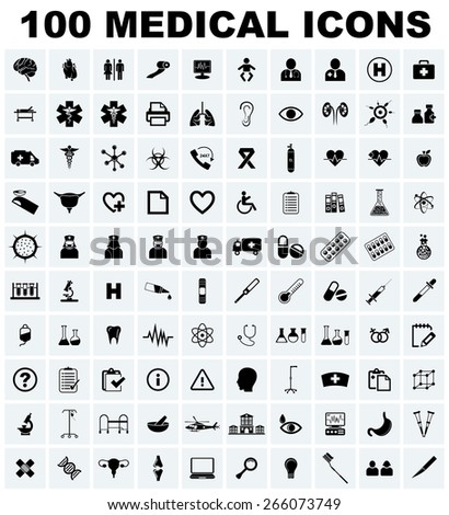 Vector Medical Icons Set  - stock vector