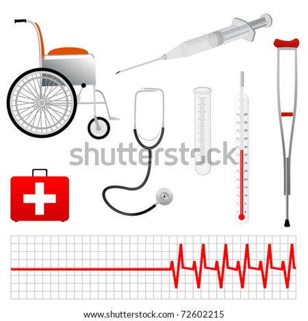 Vector Medical Tools  Eps 8 - stock vector