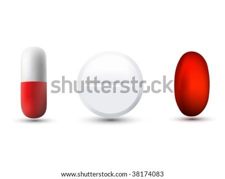 vector medicine illustrations - stock vector