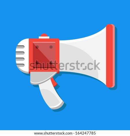 Vector Megaphone Icon - stock vector