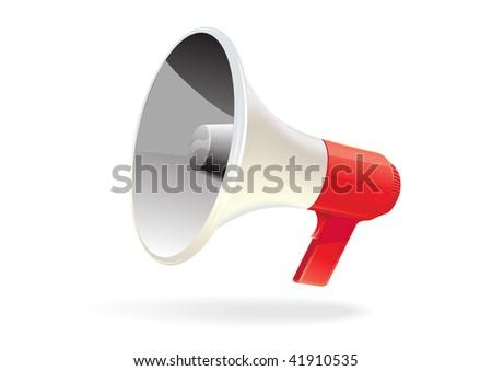 Vector megaphone isolated - stock vector