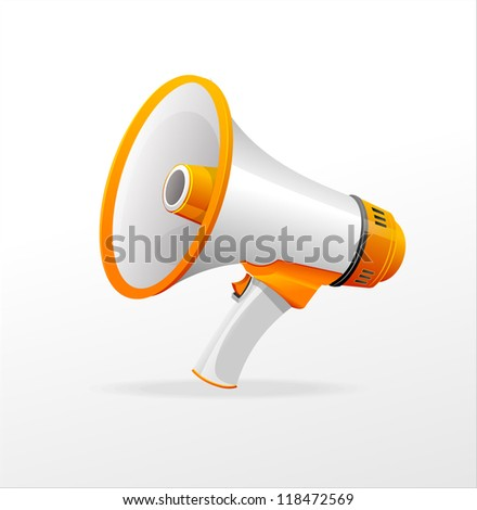 Vector megaphone on white background - stock vector