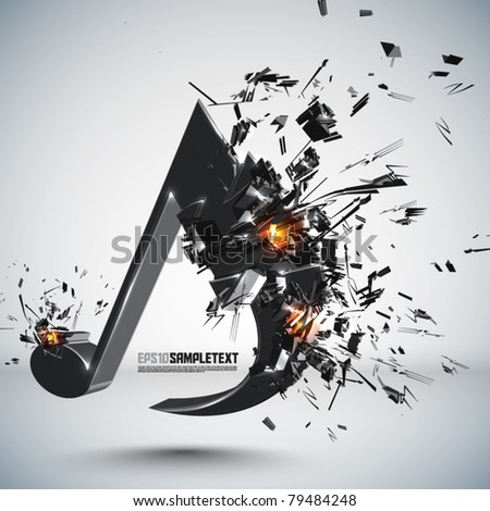 Vector Melody Crushing - stock vector