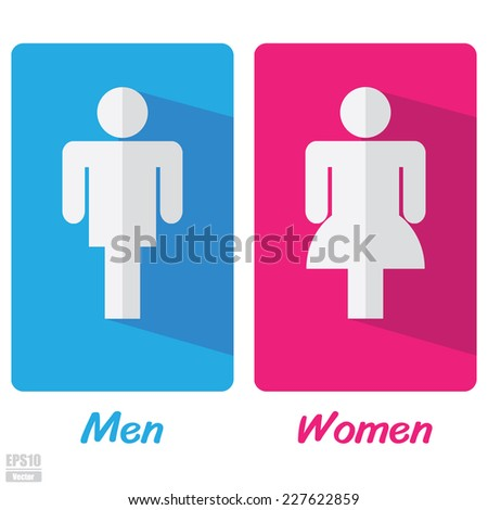 Vector : Men and women toilet sign.Eps10 - stock vector