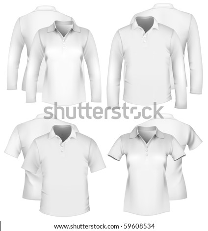 Vector. Men's and women's shirt design templates. - stock vector