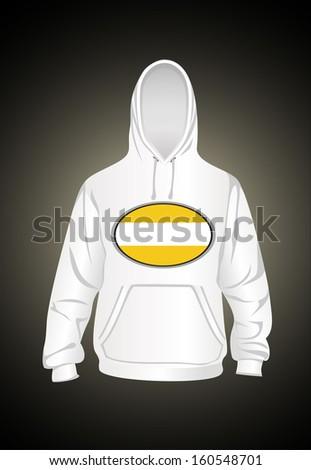 Vector. Men's hooded sweatshirt - stock vector