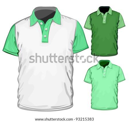Vector. Men's polo-shirt design template. - stock vector