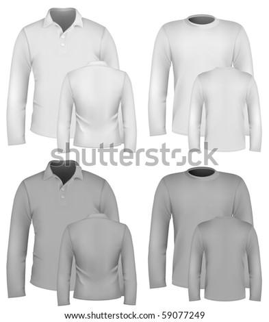 Vector. Men's shirt design templates. - stock vector