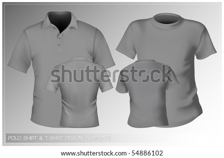 Vector. Men's t-shirt and polo shirt design template. - stock vector