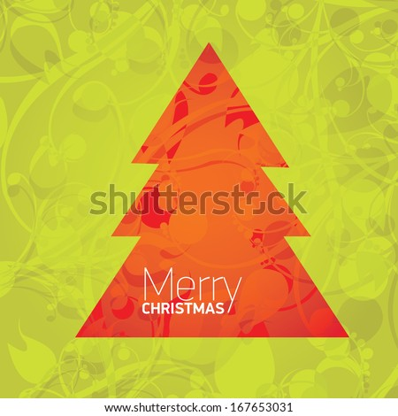 vector merry christmas decorative red and green floral background. xmas or happy new year card