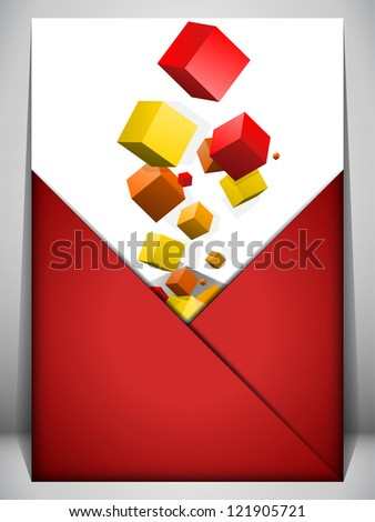 Vector - Merry Christmas Gift Box on Letter Background