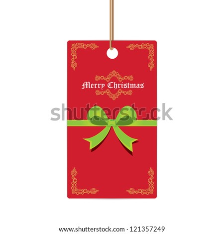 vector merry christmas greeting card . vintage christmas background.