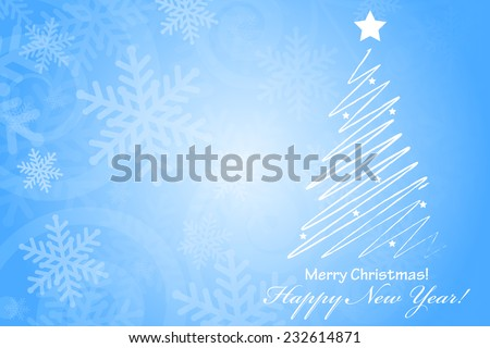 Vector Merry Christmas & Happy New Year background with space for your text - stock vector