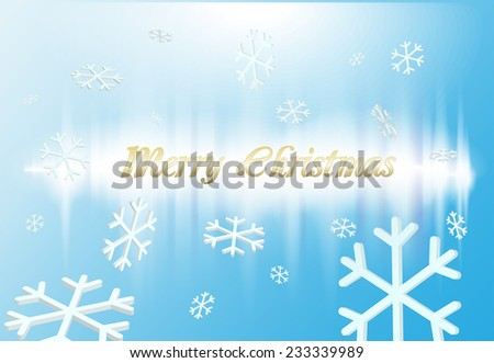Vector merry christmas invitation card graphics - stock vector