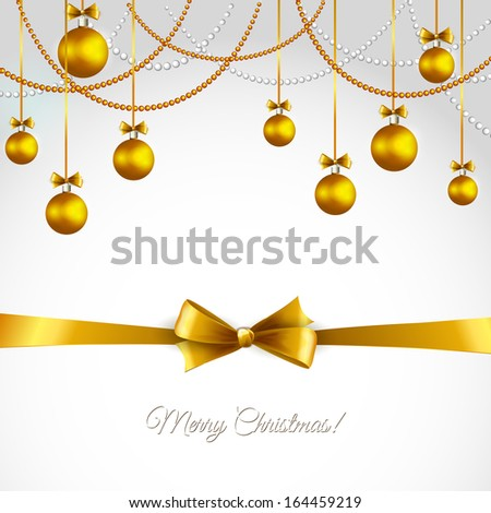 Vector Merry Christmas Paper greeting card.  - stock vector