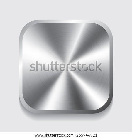 Vector metal button with circular - stock vector