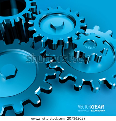 Vector Metal Gears - stock vector