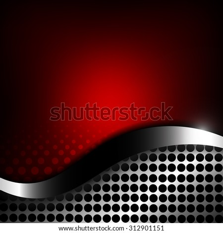 Vector : Metal grill in stripe on red surface
