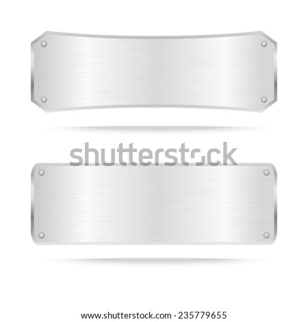 Vector Metal name plate or Metal label with screws.Vector illustration