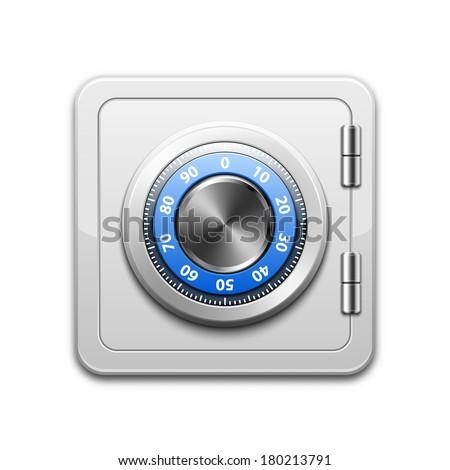 Vector metal safe icon - stock vector